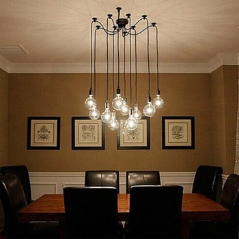 Hot Selling Edison Chandelier Classic Vintage Ancient Light Living Room Dining 6 8