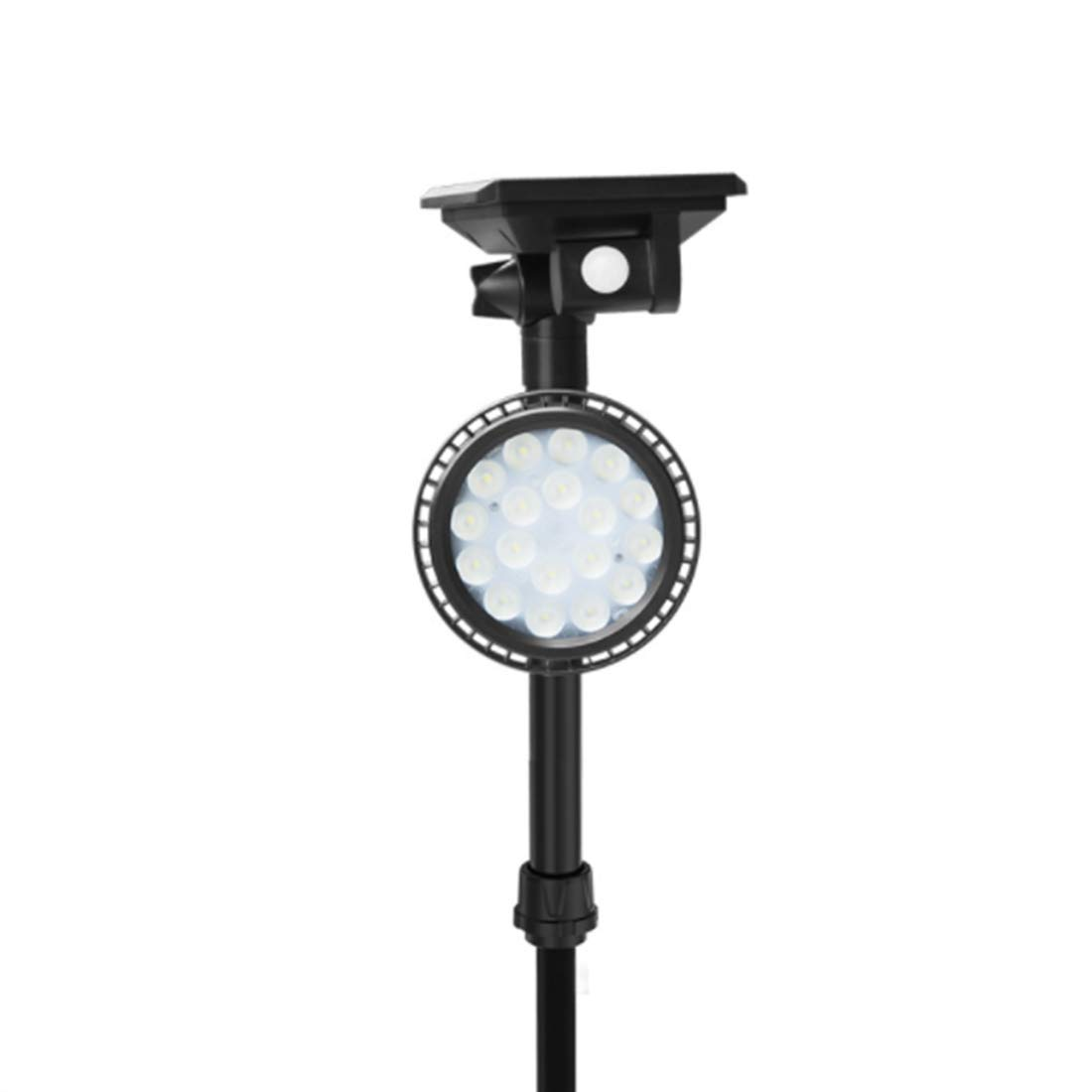 Sububblepper Solar Lights Outdoor, 18 LEDs Waterproof Solar Spotlight Adjustable Wall Light 4 Modes Cold White Security Lights for Patio, Deck, Yard, Garden (Color : Cold White)