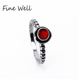 High Quality Simple For Birthday Thread Colorful Gemstone Ring