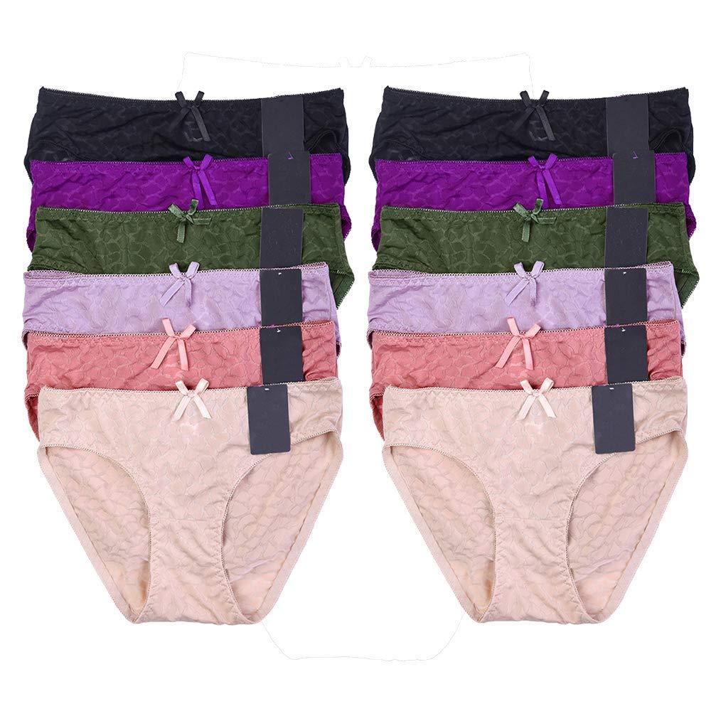 Mechaly Women Sexy Underwear Comfortable Mid-Rise Animal Jacquard Bikini  Cut Panty - 12 Pack a994c4855