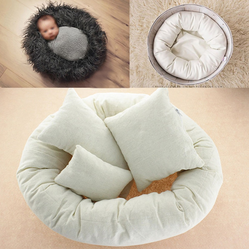 Amazon 4pieces set baby newborn photography pillows basket filler posing props baby pillow