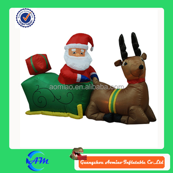 Inflatable Santa Claus Inflatable Moose Inflatable Christmas Decoration For  Sale