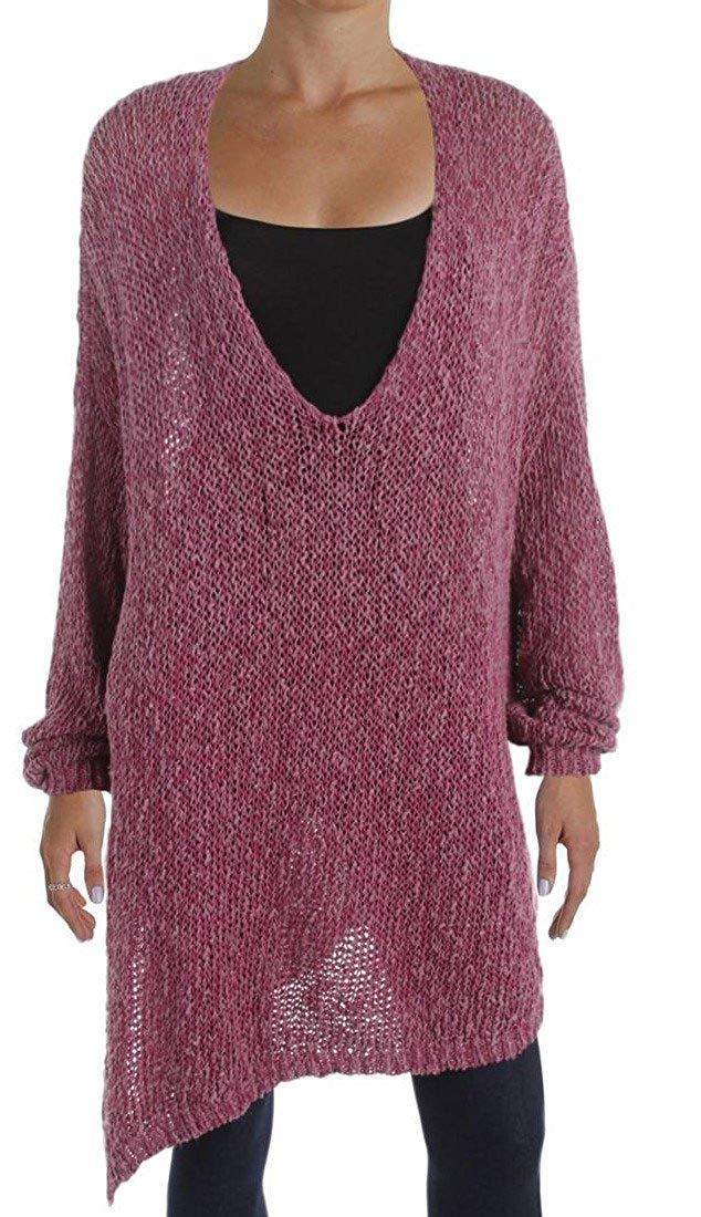 eae1dc92d8571a Get Quotations · Free People Women s Small Tunic Asymmetrical Sweater