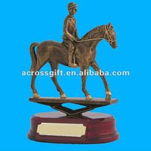 Custom riding horse resin sports trophy