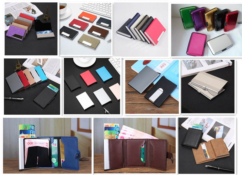 Promotion High Quality Custom Logo Leather Business Card Holder