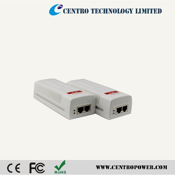 2015 Hot product passive POE injector 1 channel POE splitter with IEEE802.3at (30W) gigabit poe injector