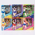 Sailor Moon figures Sailor Mars Mercury and Jupiter Saturn 6pcs set 14CM Free Shipping