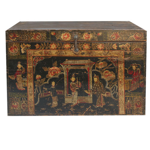 2016 chinese antique furniture Beijing & reproduction painted trunk box