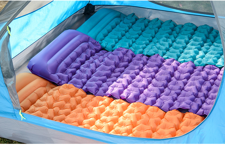 Ultralight Elastic Fabric coated TPU Portable Inflatable air bed Sleeping camping air bed