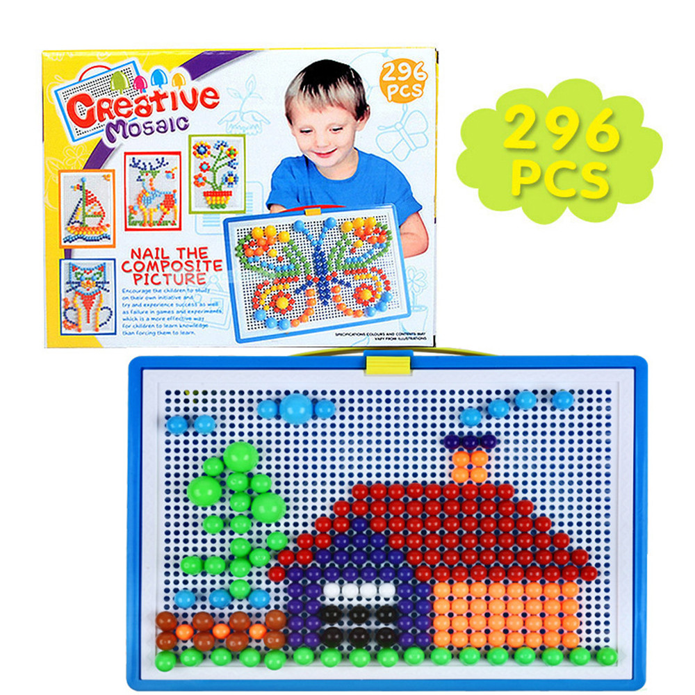 Customized Creative 296 Grain Learning Educational Clever Nails Plastic Kids Puzzle