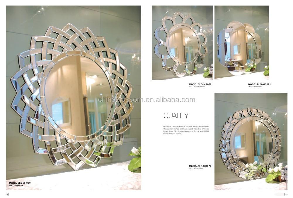 Irregular enmarcado baño pequeño espejo decorativo-Espejos ...