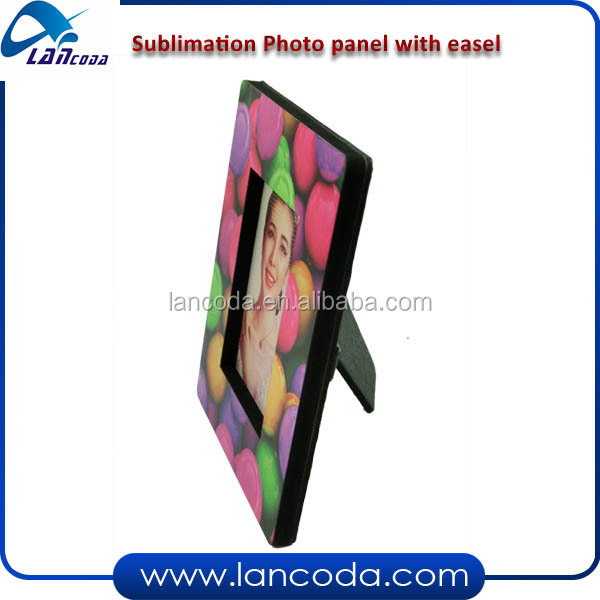 Sublimation heat transfer mdf photo frame with easel