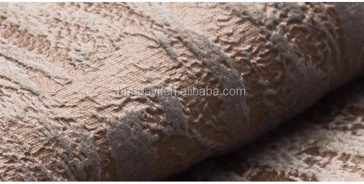 3d Emboss Print Striped Upholstery Faux Fur Sofa Velvet Fabric