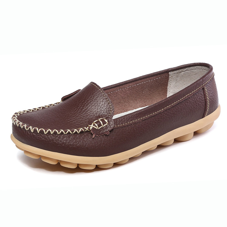 Latest plus size women genuine leather loafers