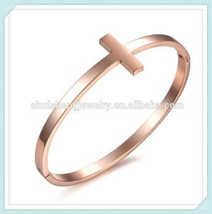 Latest shuisheng ladies noble stainless steel gold bangles models design