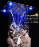 Waterfall Rainfall Shower Head Top Big Rain Shower Head Concealed ...