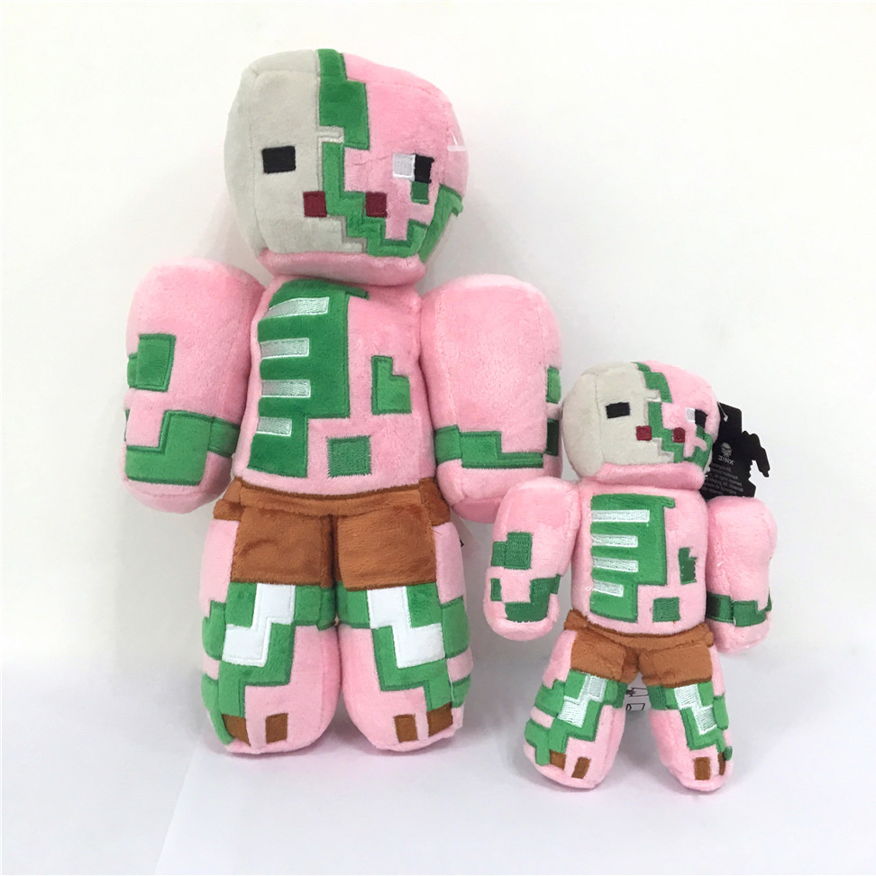 "Wholesale 7""/12"" Zombie Pink Pigman Video Game Plush Stuffed <strong>Animal</strong>"