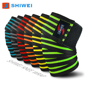 SHIWEI-KS-1#Customized Logo Knee wraps knee straps brace