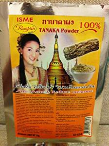 Rasyan Isme 100% Thanaka Anti Acne Face Mask Powder . Compatible with Retin a Amazing in Thailand