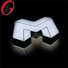 Custom made illuminated channel letters led frontlit decorative large 3d led signs china for advertising