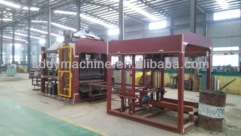 russian new technology qt10-15 concrete hollow block making machine price