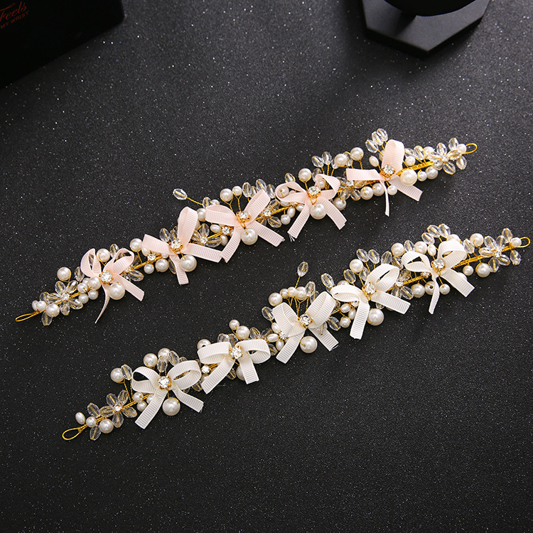 Wholesale korea hair accessories headbands bridal headpiece with crystals