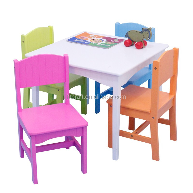 ftc001a pas cher enfant table et 4 chaises ensemble 2014 vente chaude enfants table chaise avec. Black Bedroom Furniture Sets. Home Design Ideas
