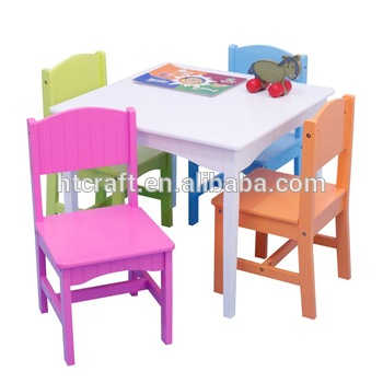 FTC001A Pas Cher Enfant Table Et 4 Chaises Ensemble Vente Chaude Enfants Chaise Avec De