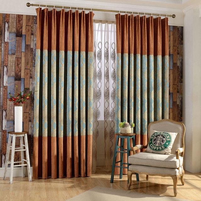 Custom Sound Insulation Jacquard Chenille Curtains