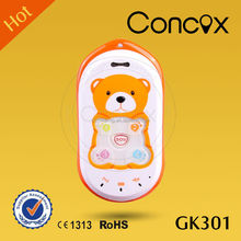 Concox Manufacturer Cute Baby Bear Positioning Small GPS Phone GK301 Check Location via Calls/SMS Command