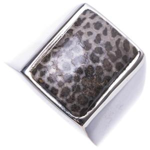 Wholesale Natural Stingray Coral Handmade Unique 925 Sterling Silver Ring 5.75