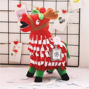 Wholesale Hot Selling Colorful Alpaca Stuffed Dolls Christmas Llama Plush Toys For Kids Gift
