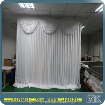 3m 6m Milk White Wedding Party Wall Backdrop Curtains With Fabric S
