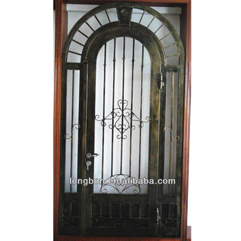 High Quality Modern Custom Design 30 Inch Wrought Iron Entry Door