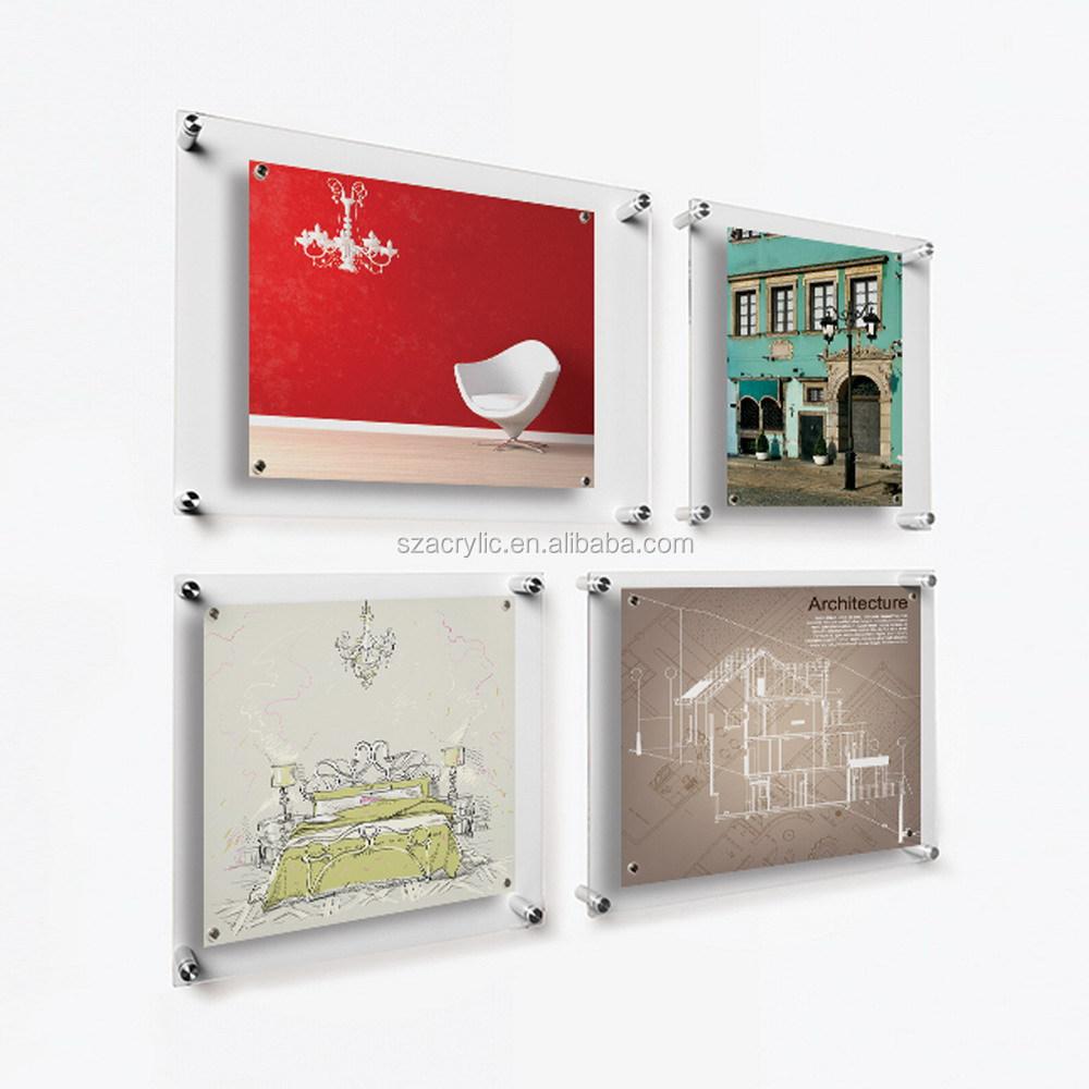 Venta al por mayor pared de acrílico colgar marcos-Compre online los ...