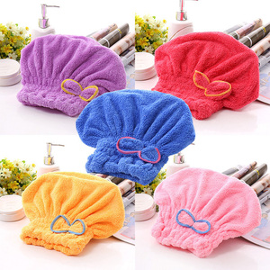 promotional lovely bowknot quick dry shower cap super absorbent sexy bath hair-drying caps