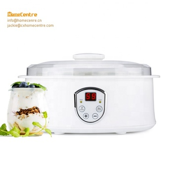 Ceramic Yogurt Maker with Seven Glass Jars or ceramic jars for optional and Automatic LCD Display