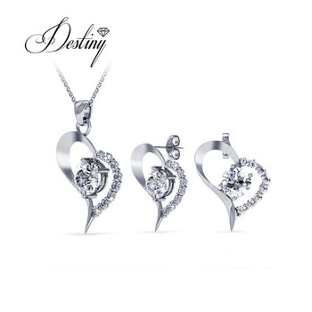 da273e804 Destiny Jewellery fashion Heart crystal pendant and earrings jewellery Set  for women with crystals from Swarovski