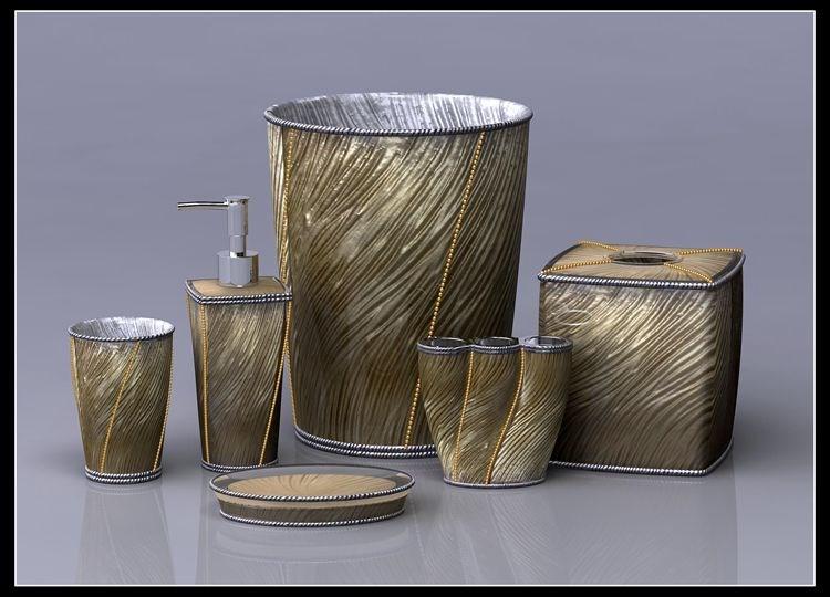 moderne bad accessoires bad zubeh r set gold anlagen des. Black Bedroom Furniture Sets. Home Design Ideas