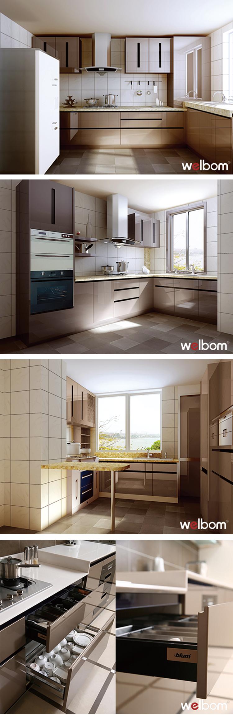 Welbom High Gloss Kitchen Cabinets Finish Reviews Buy Kitchen