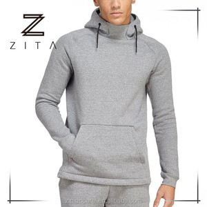 Slim Fit Plain Gym Sweatshirts Oversized Pullover Drawstring Mens Sports Hoodies Wholesale