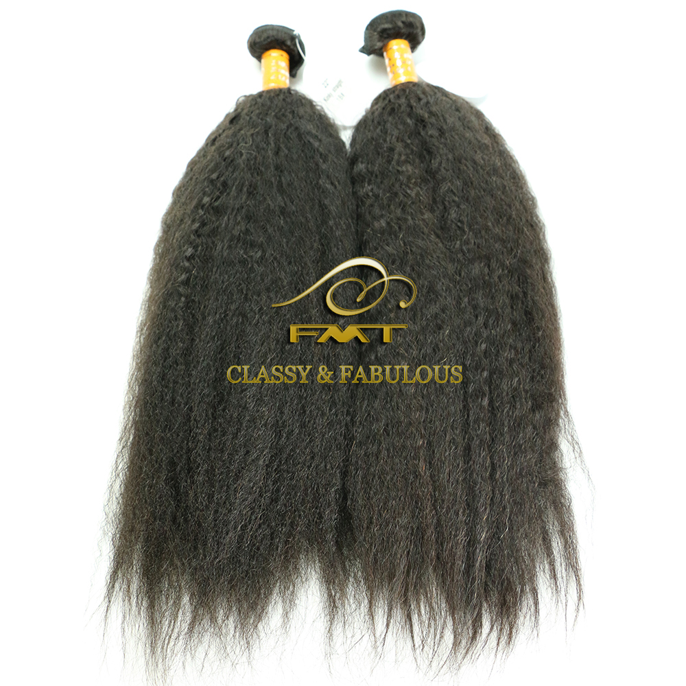 Chinese Merchandise No Minimum Order Quantity Natural Color 8A Human Virgin Yaki Straight Hair Extension Natural Indian Hair