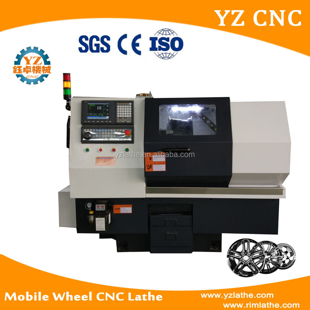 WRC20 Mobile Wheel CNC Lathe With Probe