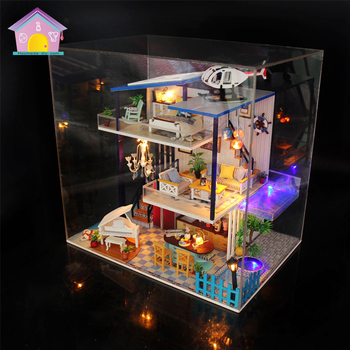 Three Layer DIY Doll House Large Wooden Doll Houses