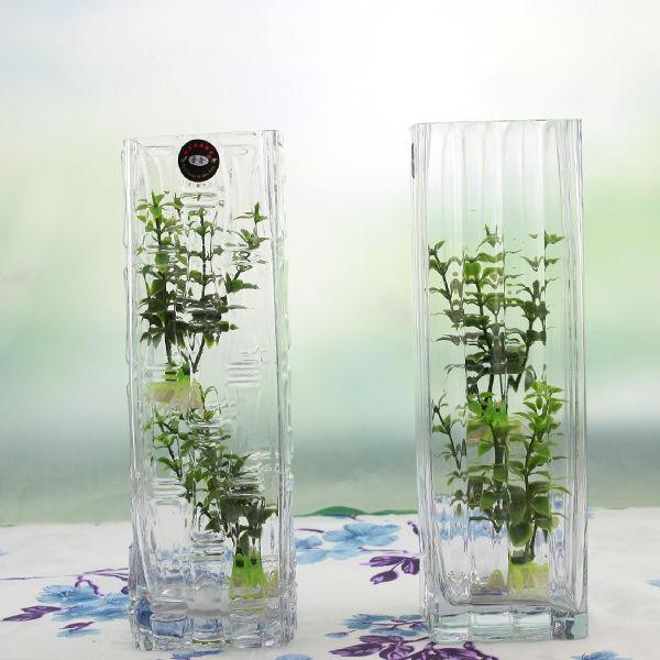 haute qualit carr piliers grand vase en verre. Black Bedroom Furniture Sets. Home Design Ideas