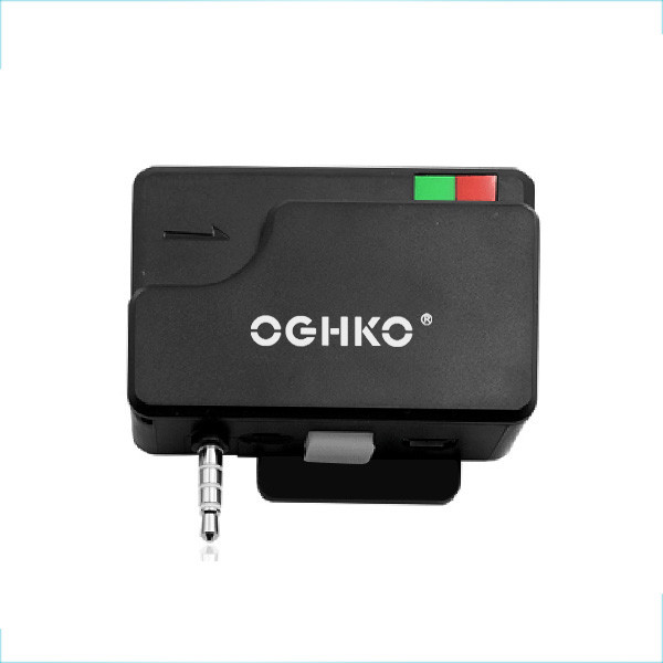 3.5mm audio jack two in one magnetic stripe chip card reader