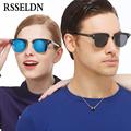 RSSELDN Newest Half Metal High Quality Sunglasses Men Brand Designer Fashion Sun Glasses Women Gafas Oculos