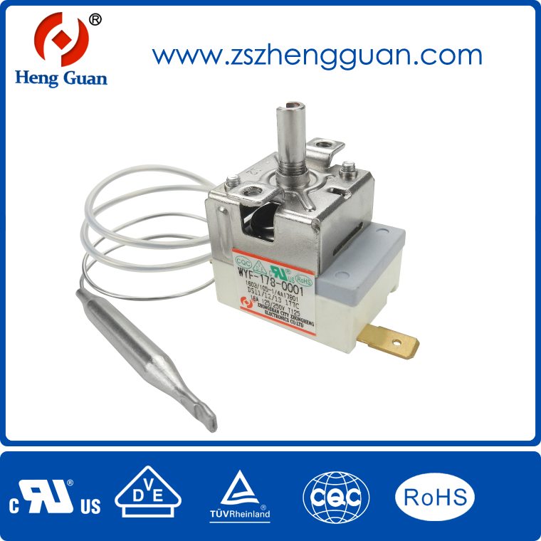 AC capillary thermostat Zhongheng WYF-250C for oven