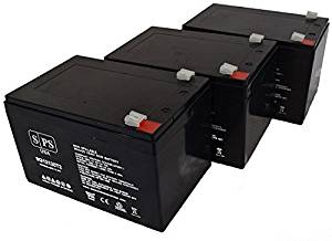 Replacement Battery Pride TRAVELPRO 3-Wheel Travel Pro Portable Scooter 12V 12Ah Battery (SPS Brand ) - 3 Pack