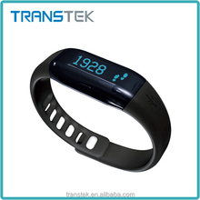 Fashion durable 3D bluetooth pedometer calorie counter bracelet smart watch
